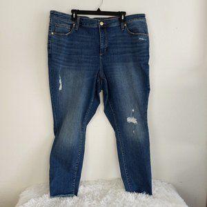 Ava & Viv Skinny Stretch Denim Jeans 22W Distress